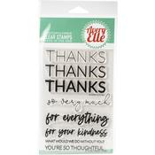 """Thanks Avery Elle Clear Stamp Set 4""""X6"""" - PRE ORDER"""