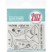 "Shark Hugs Avery Elle Clear Stamp Set 4""X3"" - PRE ORDER"