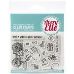 "Wheelie Great Avery Elle Clear Stamp Set 4""X3"""