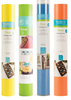 Fun in the Sun Cricut Vinyl Bundle This bundle has vinyl colors perfect for your summer crafting projects! Perfect for custom fashion and accessories, bags, pillows, party and home decor and more! This package contains four rolls of vinyl. You will get a Medium Blue - Cricut Permanent Vinyl 12 X48  Roll, Lime - Cricut Vinyl 12 X48  Roll, Bright Yellow - Cricut Vinyl 12 X48  Roll, and a Coral - Cricut Vinyl 12 X48  Roll.