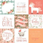 Journaling Cards 4x4 Paper - Baby Girl - Echo Park