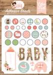 Baby Girl Adhesive Brads - Echo Park