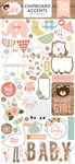 Baby Girl Chipboard Accents - Echo Park