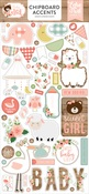 Baby Girl Chipboard Accents - Echo Park - PRE ORDER