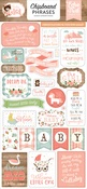 Baby Girl Chipboard Phrases - Echo Park - PRE ORDER
