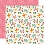 Blissful Butterflies Paper - I Love Spring - Echo Park