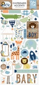 Baby Boy Chipboard Accents - Echo Park - PRE ORDER