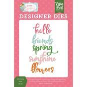 Hello Spring Word Dies - I Love Spring - Echo Park