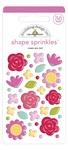 Roses Are Red Shape Sprinkles - Love Notes - Doodlebug