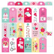 Kissing Tag Paper - Love Notes - Doodlebug