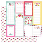 Conversation Hearts Paper - Love Notes - Doodlebug