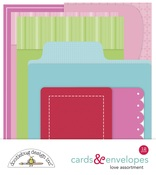 Love Cards & Envelopes - Love Notes - Doodlebug