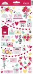 Love Notes Icon Stickers - Doodlebug