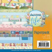 Active Life Double Sided 6 x 6 Paper Pack - Find It Trading - PRE ORDER