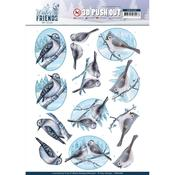 Sparkling Birds Punchout Sheet - Winter Friends - Find It Trading