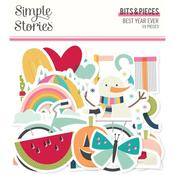 Best Year Ever Bits & Pieces Die-Cuts - Simple Stories