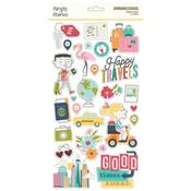 Going Places Chipboard Stickers - Simple Stories