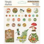 Simple Vintage Great Escape Decorative Brads - Simple Stories