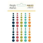 Enamel Dots Embellishments - Going Places - Simple Stories - PRE ORDER