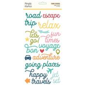 Foam Stickers - Going Places - Simple Stories - PRE ORDER