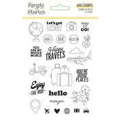 Going Places Photopolymer Clear Stamps - Simple Stories