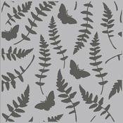Butterfly Fern Simple Vintage Great Escape Stencil - Simple Stories