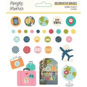 Decorative Brads - Going Places - Simple Stories - PRE ORDER