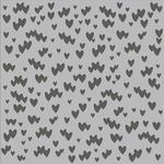 Scattered Hearts Stencil - Simple Stories