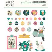 I Am Decorative Brads - Simple Stories - PRE ORDER