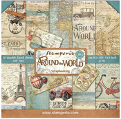 Around The World 8x8 Stamperia Double-Sided Paper Pad