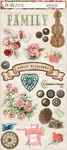 Family Heirlooms Sticker Sheet - Bo Bunny