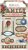 Family Heirlooms Layered Chipboard - Bo Bunny
