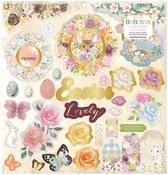 Garden Grove Chipboard Stickers - Bo Bunny