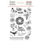 Simple Vintage Garden District Photopolymer Clear Stamps - Simple Stories