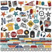 Bro & Co Combo Sticker Sheet - Simple Stories - PRE ORDER