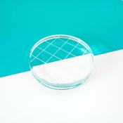 "Acrylic Grid Stamping Block 2-3/4"" Round"