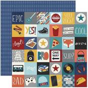 2 X 2 Elements Paper - Bro & Co - Simple Stories