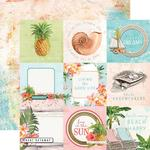 "Elements 4""X4"" Paper - Simple Vintage Coastal - Simple Stories"