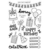 Magical Birthday Photopolymer Clear Stamps - Simple Stories