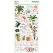 Chipboard Stickers - Simple Vintage Coastal - Simple Stories