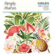Floral Bits & Pieces Die-Cuts - Simple Vintage Coastal - Simple Stories - PRE ORDER