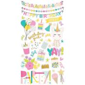 Magical Birthday Chipboard Stickers - Simple Stories