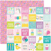 2 X 2 Elements Paper - Magical Birthday - Simple Stories