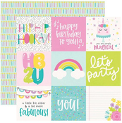 4 X 4 Elements Paper - Magical Birthday - Simple Stories