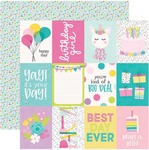 3 X 4 Elements Paper - Magical Birthday - Simple Stories - PRE ORDER