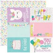 4 X 6 Elements Paper - Magical Birthday - Simple Stories