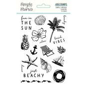 Simple Vintage Coastal Photopolymer Clear Stamps - Simple Stories