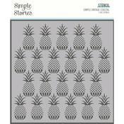 """Pineapples 6""""X6"""" Stencil - Simple Vintage Coastal - Simple Stories - PRE ORDER"""