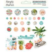 Decorative Brads - Simple Vintage Coastal - Simple Stories