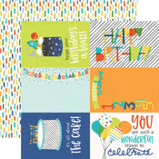 "Elements 4""X6"" Paper - Birthday Blast - Simple Stories"